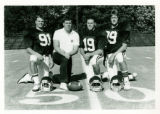 Football captains with Coach Mike Delong (1986)