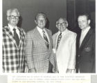 Charles Silvia, Art Linkletter, Ed Steitz, and William Yorzyk at Swimming Hall of Fame induction...