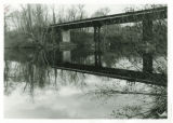 Reflection of railroad bridge over Lake Massasoit