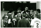 Charlie Sullivan in team huddle