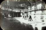 Students Wrestling in East Gymnasium, c. 1896